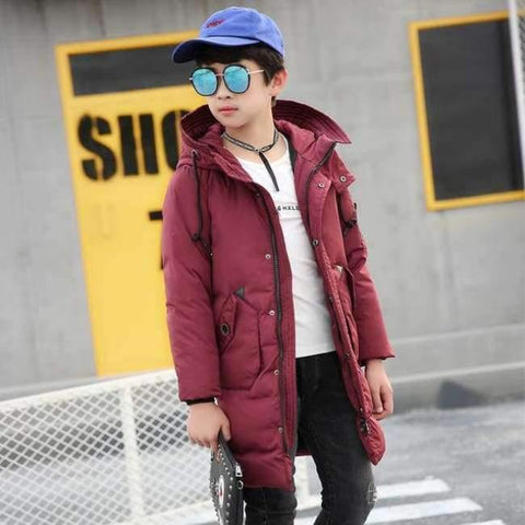 Image of Planet Gates Multi / 10 Winter Clothes for Boys Feather Down Coats Hooded Long Parkas Teenage Boys Winter Clothes age 10 12 14 16 years Winter Kids Coat