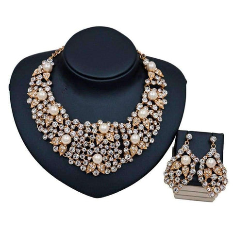 Planet Gates Multi LAN PALACE new arrivals colorful necklace jewelry set simulated pearl necklace and earrings for wedding  free shipping