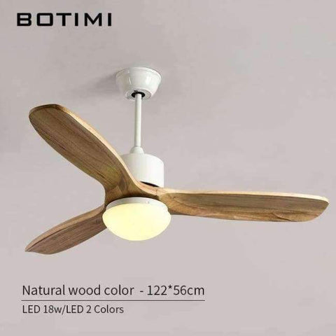 Image of Planet Gates Natrual Wood Color Botimi 2018 New Ceiling Fan For Living Room Ventilador de techo Ceiling fans with Lights 48 Inch Modern Cooling Fan Fixtures