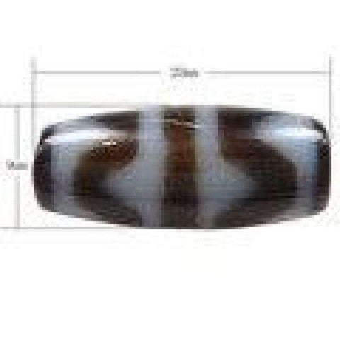 Planet Gates Natural Tibetan Dzi Beads for making diy Jewelry Oval, four strip tiger teeth & two tone, 20x9x3mm, Sold By PC