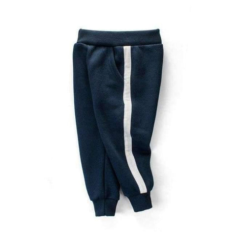 Image of Planet Gates Navy Blue / 3T School Boys Girls Spring Autumn Sports Pants Toddler Baby Kids Trousers Teenage Children Cotton Clothes Sweatpants 2-10Y T27