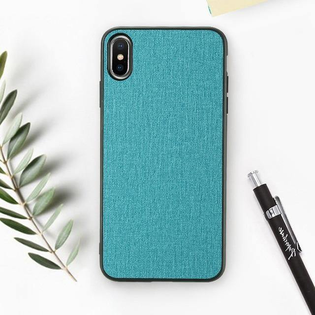 a4c474c01 FLOVEME Classic Cloth Case For iPhone XS Max XR Luxury Soft Silicone ...
