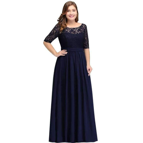 989e44ab397 ... Image of Planet Gates Navy Blue cps522   6 Bridesmaid Dresses Under 50   Floor Length ...