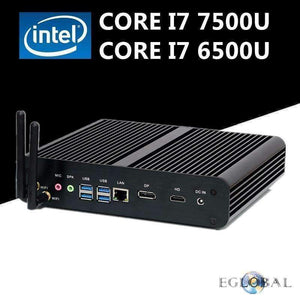 Planet Gates No Ram No Storage / CPU Core i7 7500U Eglobal Fanless Mini Computer Intel Core i7 7500U 6500U Barebone PC Windows 10 Intel HD Graphics 620/520 4K Ultra HTPC DP HDMI