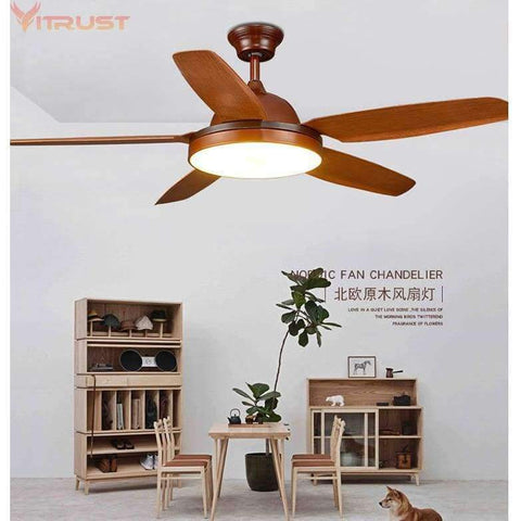 Image of Planet Gates Nordic Ceiling fan Lights 56in LED Lighting Living Bedroom Dining Ventilateur Plafond Lumiere Ventilador de techo Remote Control
