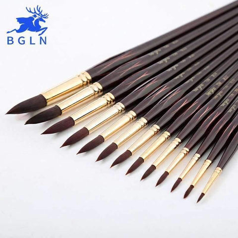 Planet Gates Number 10 Professional Watercolor Paint Brush Nylon Hair Pointed Watercolor Oil Acrylic Painting Brush For Artist Art Supplies 730