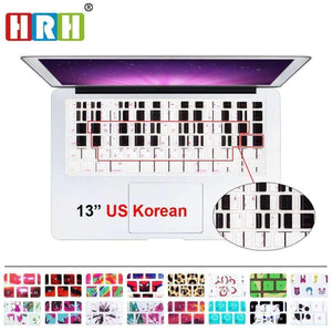 Planet Gates One Piece Ace HRH Stylish Korean Language USA Silicone Keyboard Cover Protector Skin for Macbook Air 13 Pro Retina 13 15 17 Laptop Accessory