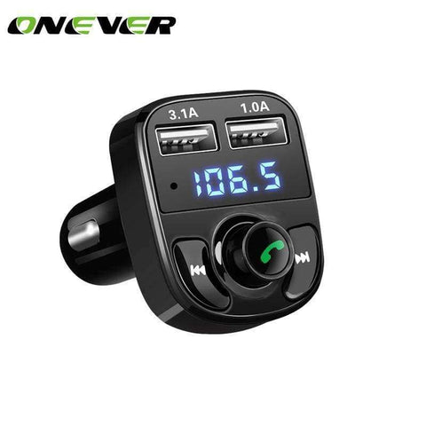 Planet Gates Onever Car Kit Bluetooth MP3 Player Hands-free Call Wireless FM Transmitter  Radio Adapter DC 12-24V with  Dual USB Car Charger