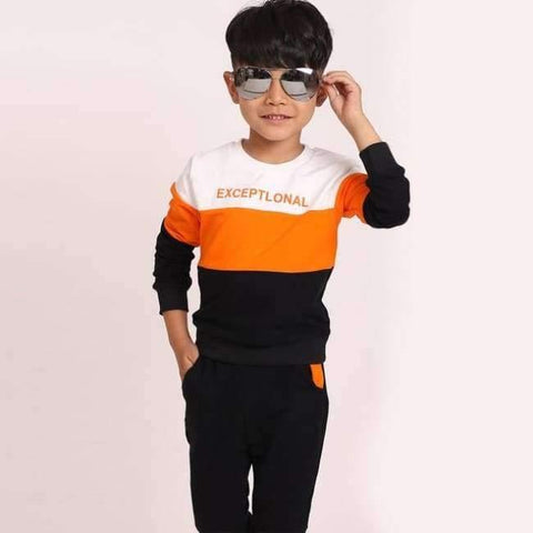 Image of Planet Gates Orange / 3T Fashion autumn teenage boys clothing sets stripe casual boys sport suit children kids tracksuit 3-12 years teenage clothes