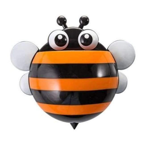 Image of Planet Gates orange honeybee Bathroom Products Sets Cartoon Ladybug Snails Toothbrush Toothpaste Holder Wall Sucker Suction Hook Tooth Brush Holder