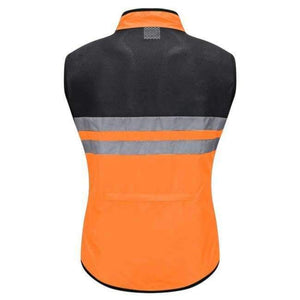 WOSAWE High Visibility Cycling Vest Safety Reflective Vest Night Riding Protect Jacket Pocket Breathable Motorcycle Bicycle Vest