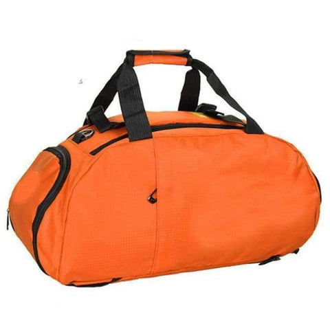 Planet Gates Orange Portable Sports Gym Backpack Shoulder Bag Separated Shoes Storage Travel Backpack Men And Women Outdoor Fitness Bag