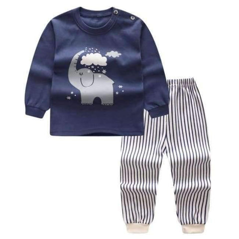 Planet Gates P / 24M Cartoon Shirt+pants 2pcs Children's Clothing Set Outfit Toddler Baby Boys Long Sleeves Set 12m-5t For Autumn