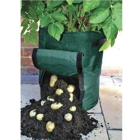 Planet Gates PE Bags Potato Cultivation Planting Garden Pots Planters Vegetable Planting Bags Grow Bags Farm Home Garden Supplies