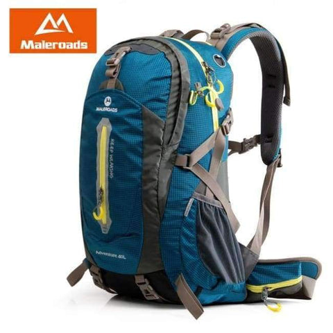 Planet Gates Peacock Blue / 30 - 40L / China Rucksack Camping Hiking Backpack Sports Bag Outdoor Travel Backpack Trekk Mountain Climb Equipment 40 50L Men Women