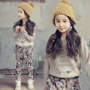 Teenage Girls Clothing Sets Autumn Letter Print T-shirts + Harem Pants Costume Kids Clothes Vetement Enfant Fille 12 13 14