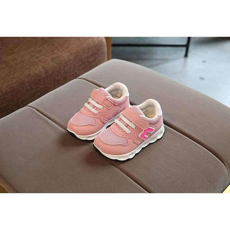 Planet Gates Pink / 11 Hook^Loop fashion patch baby toddlers casual breathable light baby first walkers Cute solid light baby sneakers shoes