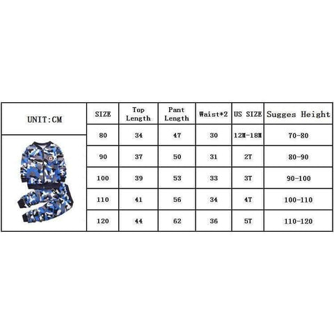 Image of Children Boys Winter Warm Woolen Outerwear Jack Coat Pants Girls Clothing Set Baby Kids Hoody Trousers Camouflage Tracksuit