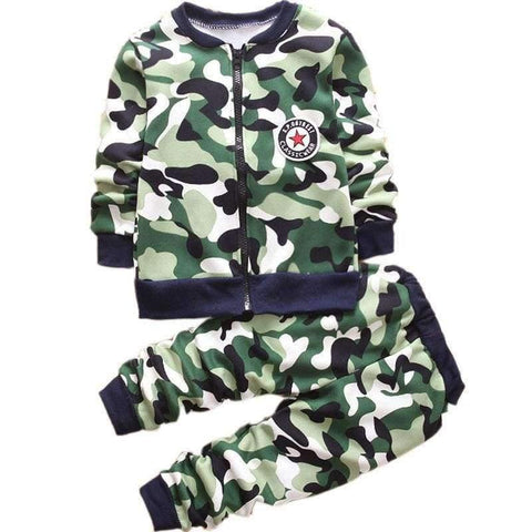 Image of Planet Gates pink / 2T Children Boys Winter Warm Woolen Outerwear Jack Coat Pants Girls Clothing Set Baby Kids Hoody Trousers Camouflage Tracksuit