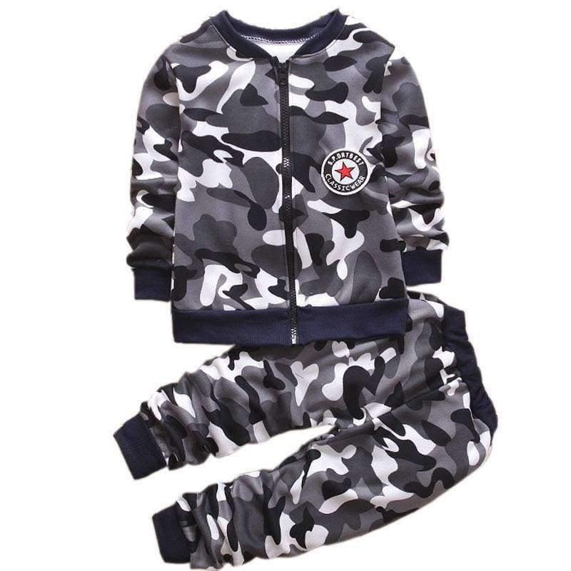 Planet Gates pink / 2T Children Boys Winter Warm Woolen Outerwear Jack Coat Pants Girls Clothing Set Baby Kids Hoody Trousers Camouflage Tracksuit