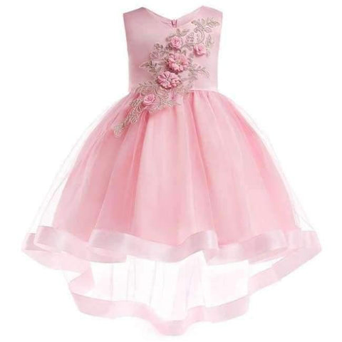 Planet Gates Pink 3 / 2T Baby Girl embroidery Silk Princess Dress for Wedding party Kids  Dresses for Toddler Girl Children Fashion Christmas Clothing