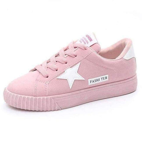 Image of Planet Gates pink / 4.5 Autumn Fashion Platform Sneakers Women Trainers Pink Vulcanized Shoes Basket Femme Ladies Casual Shoes Flat Zapatillas Mujer
