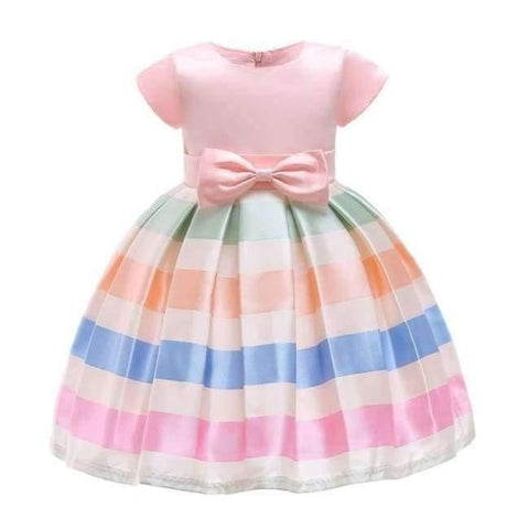 Planet Gates Pink 5 / 2T Baby Girl embroidery Silk Princess Dress for Wedding party Kids  Dresses for Toddler Girl Children Fashion Christmas Clothing