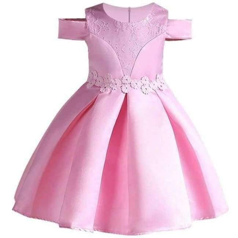 Planet Gates Pink 6 / 2T Baby Girl embroidery Silk Princess Dress for Wedding party Kids  Dresses for Toddler Girl Children Fashion Christmas Clothing