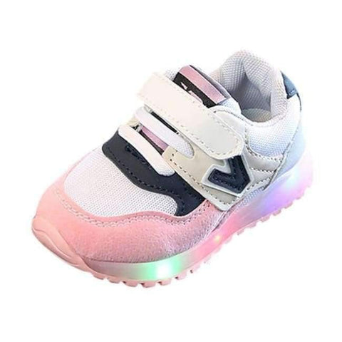 Image of Planet Gates Pink / 6.5 Fashion boys girls shoes leather Cool  toddler glowing sneakers first walkers elegant casual baby shoes