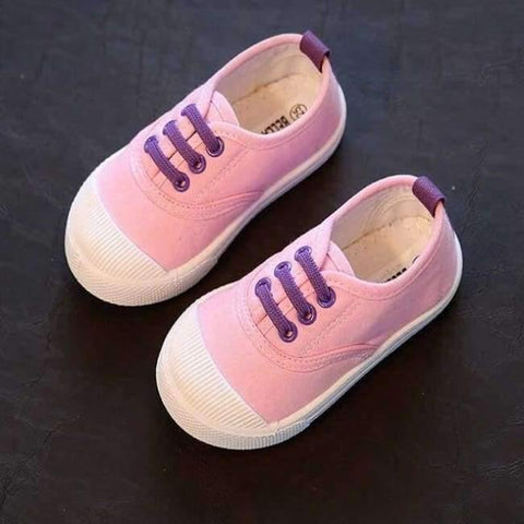 Planet Gates Pink / 8 Kids Girls Boy's Fashion Canvas Shoes Breathable Sneakers Shoe For Children Size 21-30 Flats Heels Casual Shoes