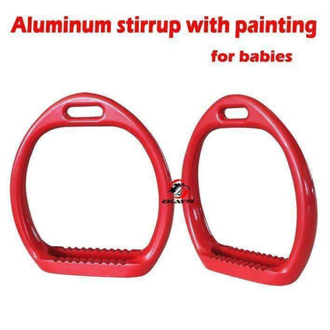 "Planet Gates pink Aluminum racing stirrup ,size:4 1/8"". horse stirrup with painting for baby(ST3105)"