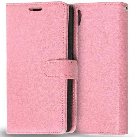 Planet Gates Pink Case for Lenovo P70 Cover Luxury Wallet Leather Flip Phone Case For Lenovo P70 P70-A P70T P70-T P 70 Case With Card Slot Holder