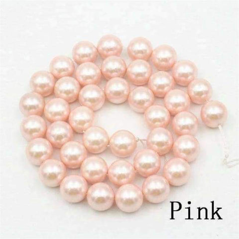 Planet Gates pink Charming 10mm Natural Mixed Color Black Shell Pearl Beads DIY Accessories Gift Manual Make Jewelry Wholesale Price AAA+ 16inch