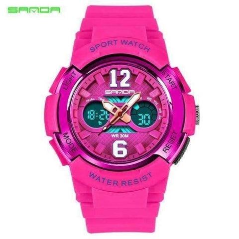 Planet Gates Pink Children's Watches LED Digital Watches Boys and Girls Students Multifunctional Waterproof Electronic Watch Relogio Masculino