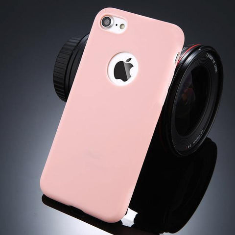 Image of Planet Gates Pink / For iPhone 6 6s USLION Candy Color Phone Case For iPhone 7 Plus XS XR XS Max Soft Silicon TPU Back Cover Cases For iPhone X 7 6 6S Plus 5 5S SE