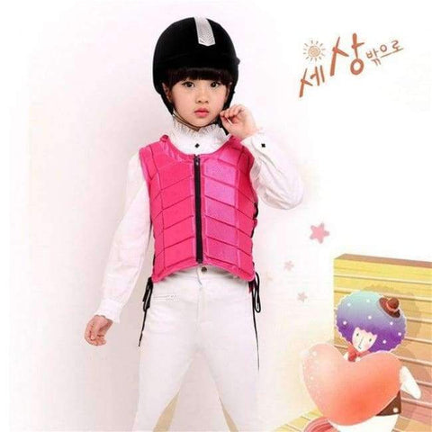 Planet Gates Pink S Kids baby Safety Equestrian Horse Riding Vest Protective Body Protector Shock Absorption Jacket Sportswear Racing E $