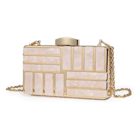 Image of Planet Gates Pink / Small Byoung 2018 Fashion Acrylic Clutch Women Evening Bag Party Clutch Handbag Ladies Shoulder Bag For Part Pink Evening Handbag