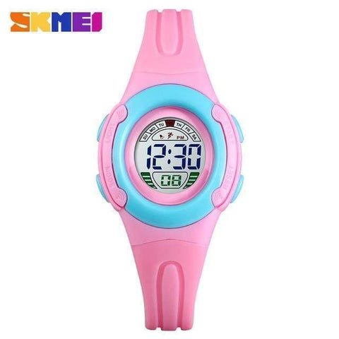 512610dc3 ... Image of Planet Gates pink Sport Student Children Watch Kids Watches  Boys Girls Clock Child LED ...
