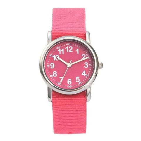 Planet Gates Pink Watches Kid nylon Straps Wristwatch Children Quartz Watch Cute Clock