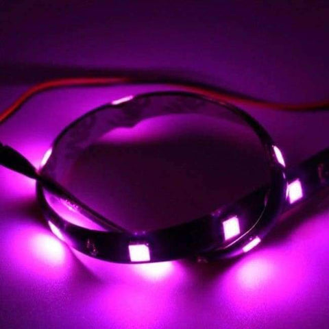Image of Planet Gates Pink White Yellow Red Blue Green 15 SMD 30CM 2835 LED Strip Light Flexible Car Decor Motor Truck Motorcycle Decoration
