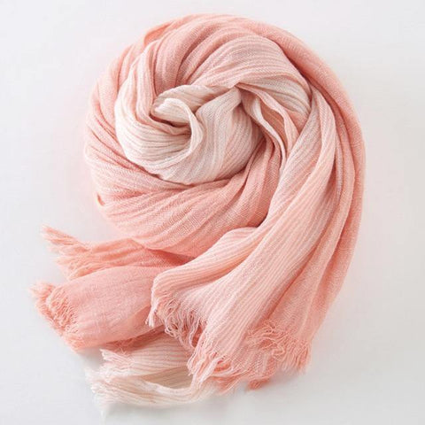 Planet Gates pink Winter Scarf Women and Men Striped Cotton Linen Scarfs Vintage Oversized Shawls and Scarves
