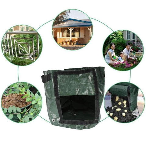 Planet Gates Plant Grow Bag DIY Potato Grow Planter PE Cloth Tomato Planting Container Bag grow pot composter garden Garden Supplies