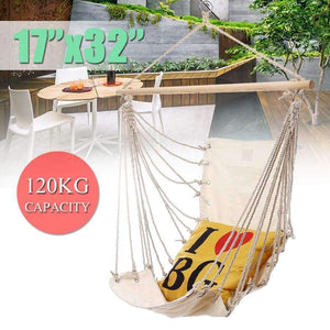 Portable Garden Hanging Cotton Hammock Chair Camping Single Swing Seat Relaxing Furniture For Child Adult Swinging Safety Chair