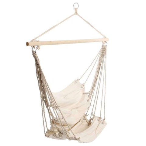 Planet Gates Portable Garden Hanging Cotton Hammock Chair Camping Single Swing Seat Relaxing Furniture For Child Adult Swinging Safety Chair