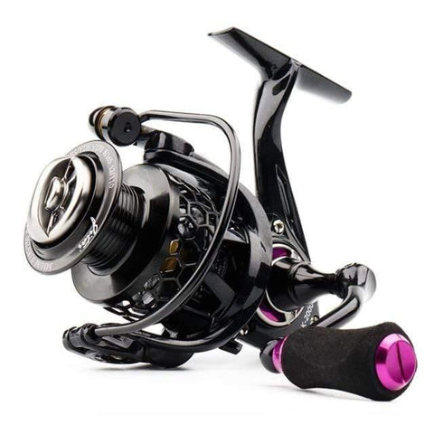 Planet Gates purple / 11 / 1000 Series Spinning Reel with Free Spool Lightweight CNC Aluminum Spool 10+1BBs Saltwater Wheel Carp Fishing Reels Carretilha