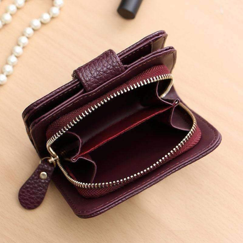 3cbabca75ff Fashion Womens Coin Purse Zipper Double Open Mini Coin Wallet Female Small  Leather Change Purse Girl Purses Card Holder Clutch