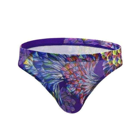 Planet Gates Purple / M NIBESSER Flower Printed Sexy Men Briefs Panties Underwear Comfortable Mens Briefs Quick Dry Men's Sexy Breathable Underpants