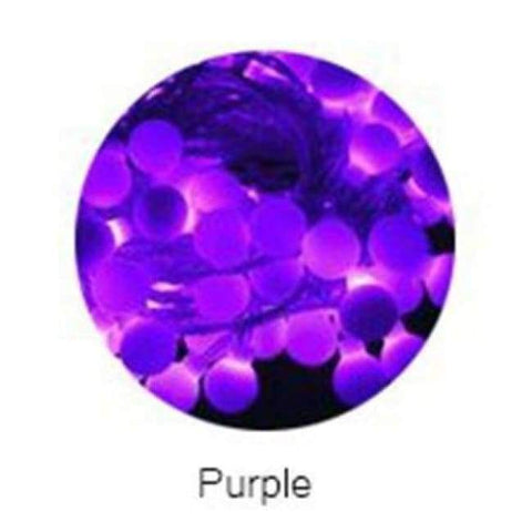 Image of Planet Gates Purple YINGTOUMAN 10m 80led String Lights AC200V Ball Lighting Holiday Decoration Lamp Festival Christmas Light