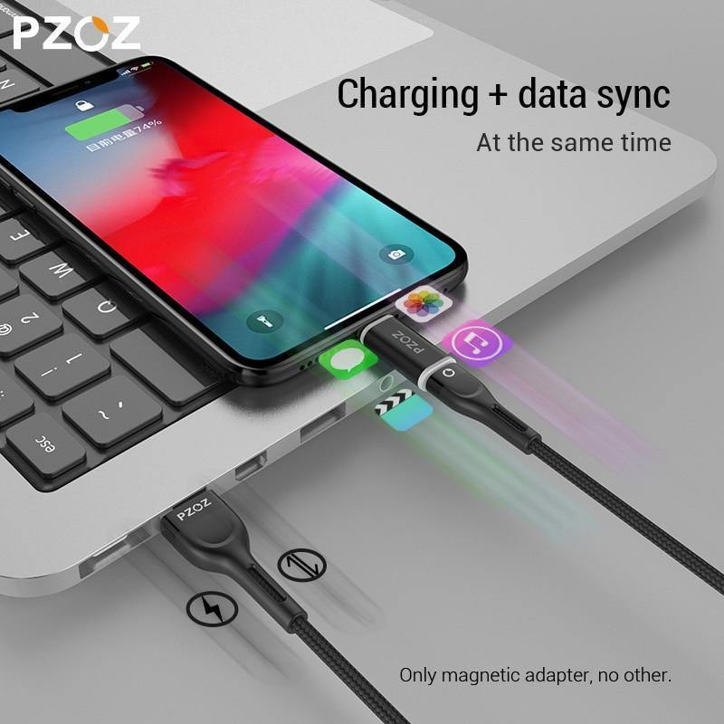 PZOZ Magnetic Adapter Cable Micro usb Adapter Fast Charging Phone Microusb  Type-C Magnet Charger usb c For iphone xiaomi Type C