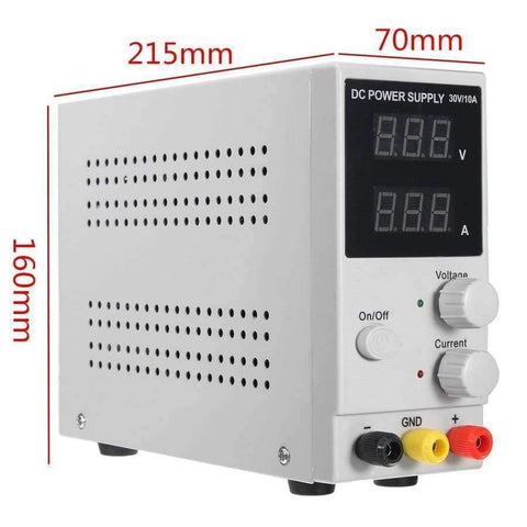 Image of Planet Gates Quality 0-10A 0-30V 220V LCD DC Power Supply Adjustable Precision Variable Digital Lab